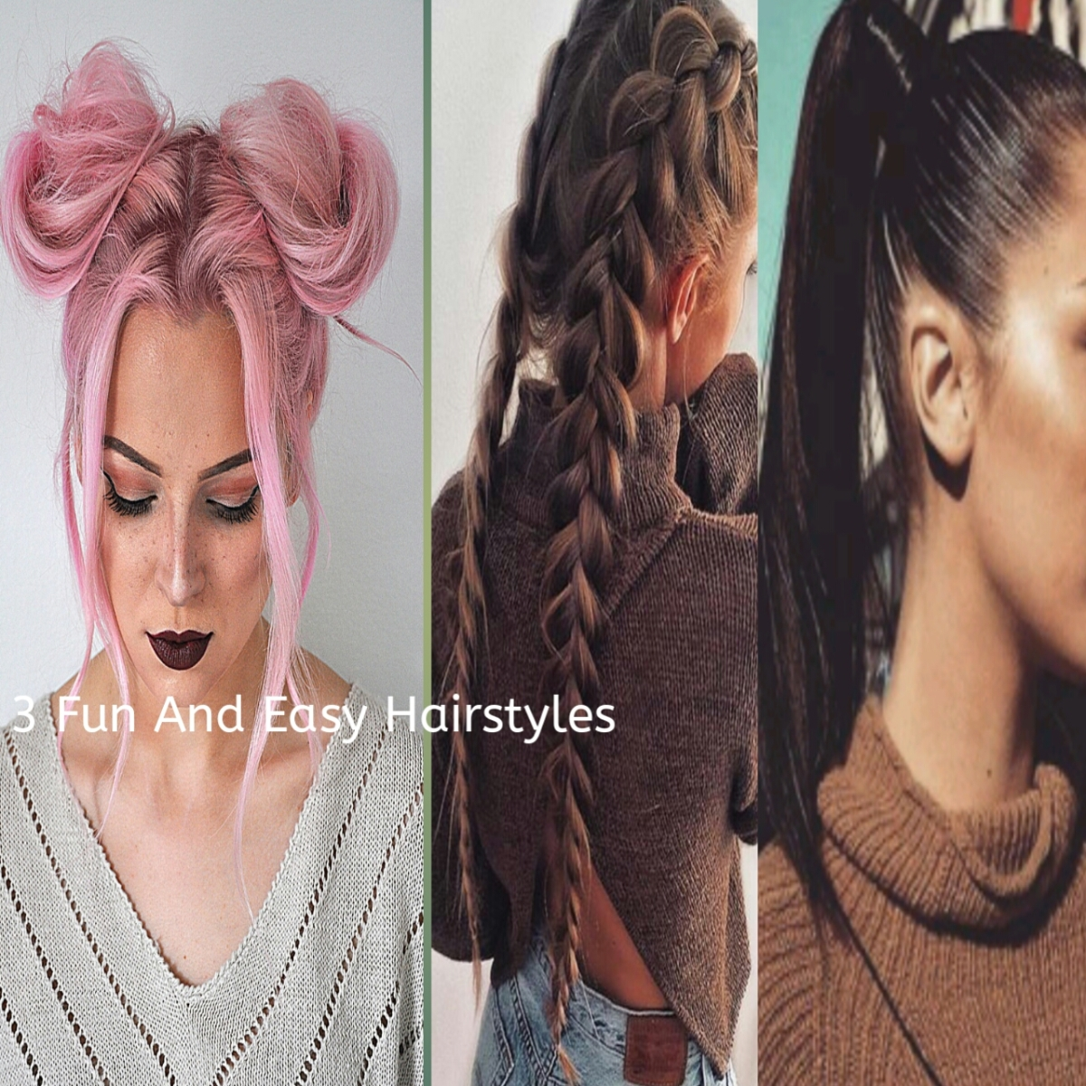 3 Fun And Easy Hairstyles – Honestly Lau